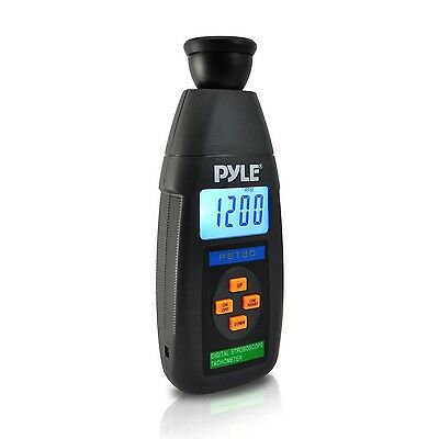 PYLE-METERS PST30 Digital LED Non Contact Stroboscope Tachometer with Bac... New