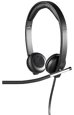 Logitech USB Headset Stereo H650e (Business Product) Corded Double-Ear He... New