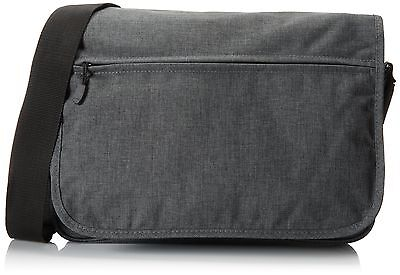 Everest Casual Laptop Messenger Briefcase Charcoal One Size New