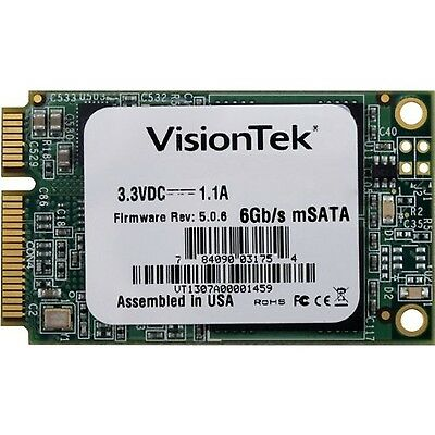 VisionTek 480GB mSATA SATAIII Internal Solid State Drive - 900613 480 GB New