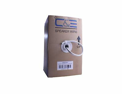C&E CNE63744 500-Feet 12AWG 2 Conductor Enhanced Loud Oxygen-Free Copper ... New