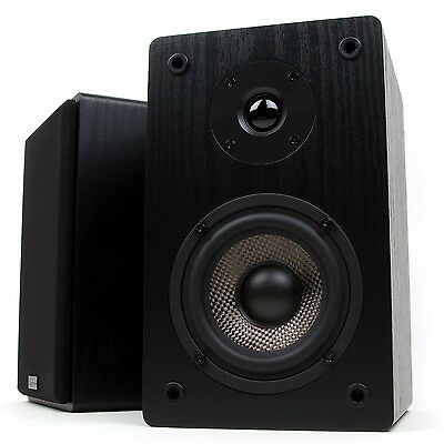 Micca MB42 Bookshelf Speakers with 4-Inch Carbon Fiber Woofer and Silk Do... New