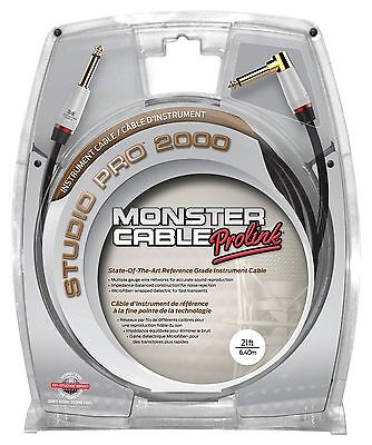 Monster Studio Pro 2000 Instrument Cable 21-Feet Angled to Straight 1/4-I... New