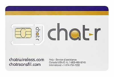 chatr Standard SIM Card Retail Packaging New