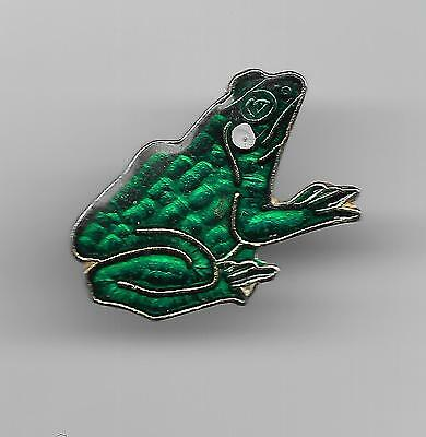 Vintage Green Frog small old enamel pin
