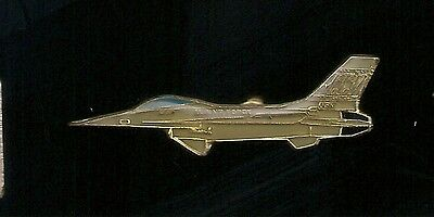 Vintage F-16 Falcon Fighter Bomber Aircraft old enamel pin