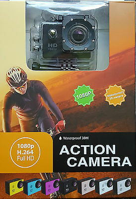Full HD 1080P Waterproof Action Sports Camera WiFi and accessories