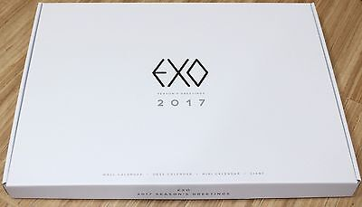 EXO 2017 Season's Greetings SM CALENDAR + DIARY + STANDING CARD + FOLDED POSTER