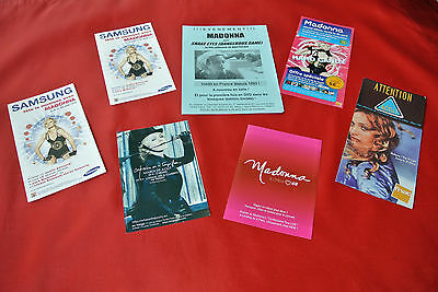 Madonna Promotional Promo Import France Flyer Advertising Ad Lot MUST SEE!!!