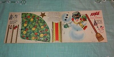 Vintage Litho Free Post Cereal Christmas Punch Out Designs