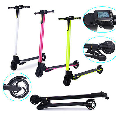 NEW 2 Wheels Carbon Fiber Foldable Electric Scooter Wireless Remote Controller