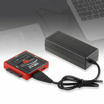 888U3 High Speed USB 3.0 To SATA IDE Cable Hard Disk Driver Converter Adapter AU