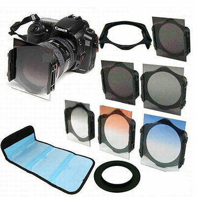Graduated Filter Kit+ND2/ND4/ND8+77mm Ring adapter For Cokin P series