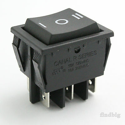 Rocker Switch Black up to 20A/250V 10T85 6Pin Canal R Series(Light Country R5)
