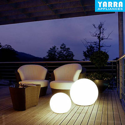 2 x LED Solar Garden LED Ball Outdoor Light Weather Proof Color Furniture Chair
