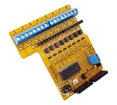 Freetronics RELAY8: 8-Channel Relay Driver Shield for Arduino