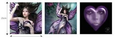 Anne Stokes Silk Lure Set Of 3 Wall Canvas  Gothic  Fantasy Skeleton Collectable