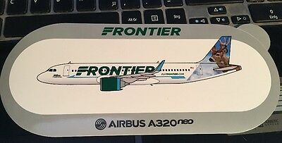 New Airbus Sticker FRONTIER Wilbur The Whitetail Airbus A320neo