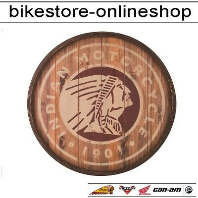 Indian Motorcycle Holzschild Icon Barrel Sign