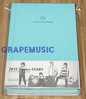SHINee 2012 SM OFFICIAL DIARY + POST CARD SET SEALED