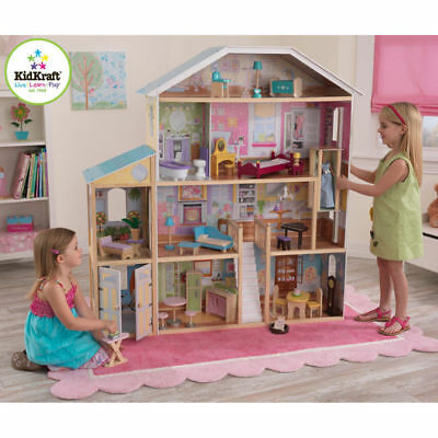 Kidkraft Majestic Mansion Wooden Doll House with Furniture NEW