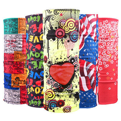 Unisex Multi Colors Scarf Tube Bandana Head Face Mask Neck Gaiter Snood Headwear