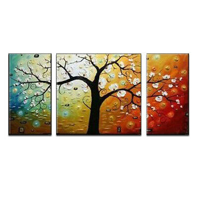 Original Abstract Oil Painting on Canvas Home Decor Wall Art Lucky Tree Framed