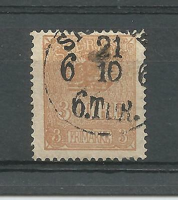 SWEDEN 1863 3ore BISTRE-BROWN cds USED EXAMPLE IN FINE CONDITION  1269