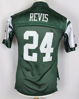 Revis #24 New York Jets American Football Jersey Youths Large Nfl Reebok Rare