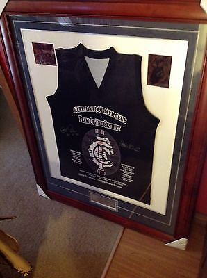 Collectable Carlton Football Club Signed Team Of The Century Framed Jersey