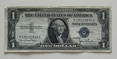 USA 1 Dollar Silver Certificate Series 1935 D One Dollar Banknote 3109