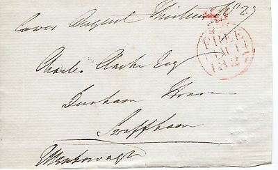 """UK King George 4th 1820-30 """" Member of Parliament Free post front"""", 1827 (35)"""