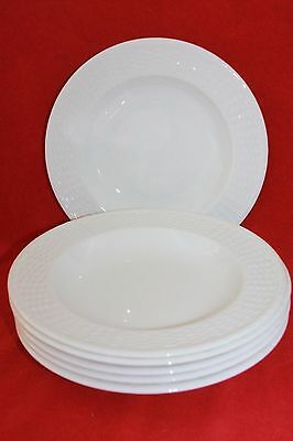 "WEDGWOOD ~ NANTUCKET ~ 9.2"" RIMMED SOUP BOWLS x 6"