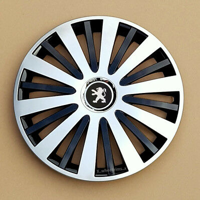 """4x14/"""" Wheel trims wheel covers for Peugeot 107 pink-black 14/"""""""