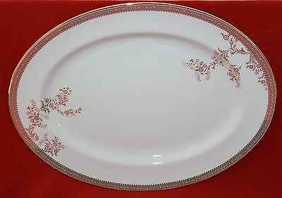 Wedgwood ~ Vera Wang ~ Vera Lace Gold ~ Oval Serving Platter
