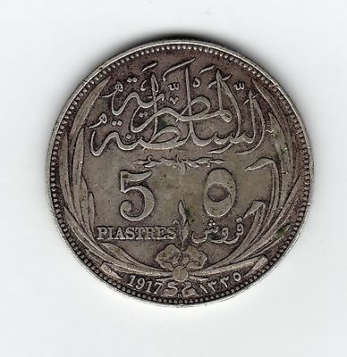 Egypt 50 piastres coin, 1333/1917 Very Fine (44)