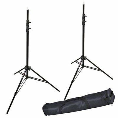 2X Victory 303 Aluminum 2.6M Heavy Duty Spring Cushioned Light Stand + Carry Bag