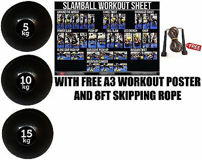 Fxr Sports 30Kg Set No Bounce Slam Ball Crossfit Mma Fitness Strength Training