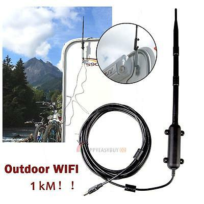 1000M USB Wireless WiFi Outdoor Waterproof Adapter Antenna Booster 802.11b/g/n