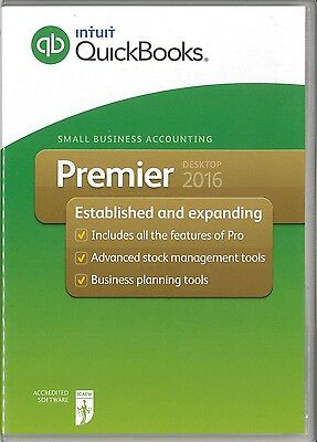 Quick Books 2016 Premier Software Single User DVD