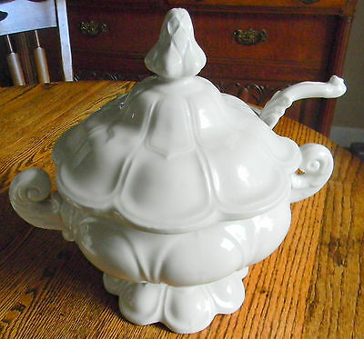 Vintage Red Cliff Ironstone Soup Tureen with Ladle