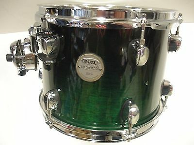 "Mapex  10""x 8"" Meridian Birch tom in Black Forest Green"