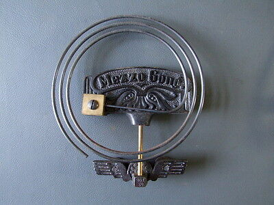 Vintage Kienzle wall clock chime Mezzo gong metal coil with ornate back plates