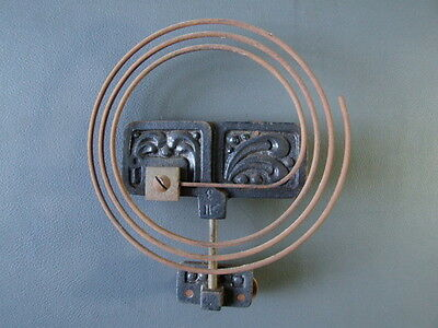 Vintage wall clock chime gong metal coil with ornate back plates • £12.00