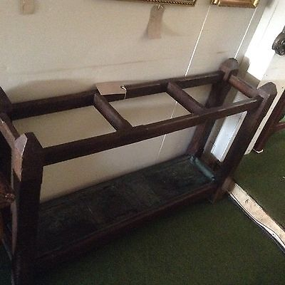 ***REDUCED*** Solid Oak Umbrella/Stick Stand With Original Lining