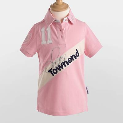 Townend Equestrian Clothing Flint Limited Edition Kids Polo Shirt Pink 9-10