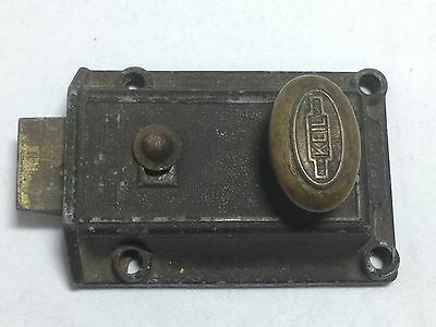 Antique Keil New York Door Lock Latch Brass Cast Iron