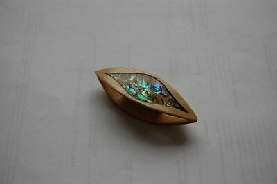 Wooden Tatting Shuttle Hand Made in Maple With Mother-of-Pearl Inlay