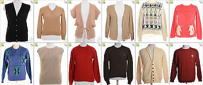 JOB LOT OF 17 VINTAGE MIXED KNITS - Mix of Era's, styles and sizes (17846)
