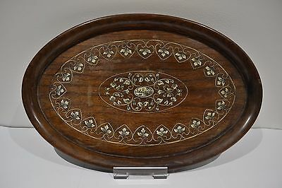Antique Inlaid Wooden Tray